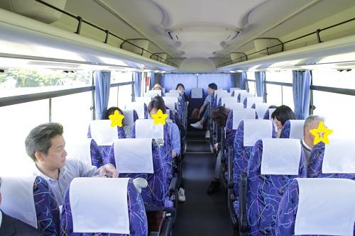 リクシルリフォームフェアバスツアーバス車内