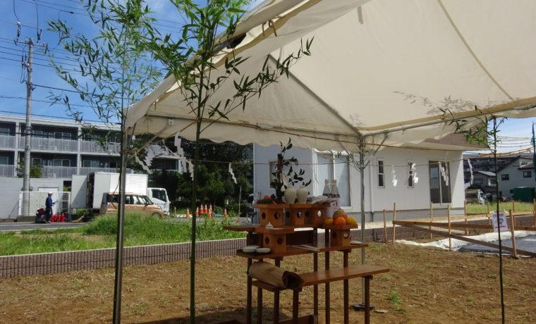 地鎮祭の祭壇準備